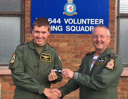 Pilot qualification for Cadet Flight Sergeant Alex