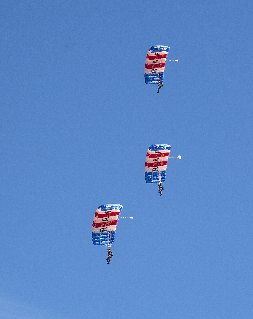 The RAF Falcons conducting their training in California, USA