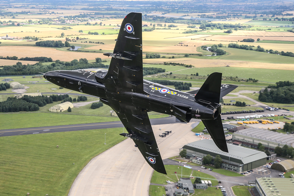 The Hawk T1 takes to the sky on a training sortie.