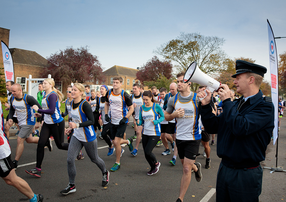 On the 31st October, many people across Station braved the cold to take part in a 10k Airfield Run in aid of the RAF Benevolent Fund