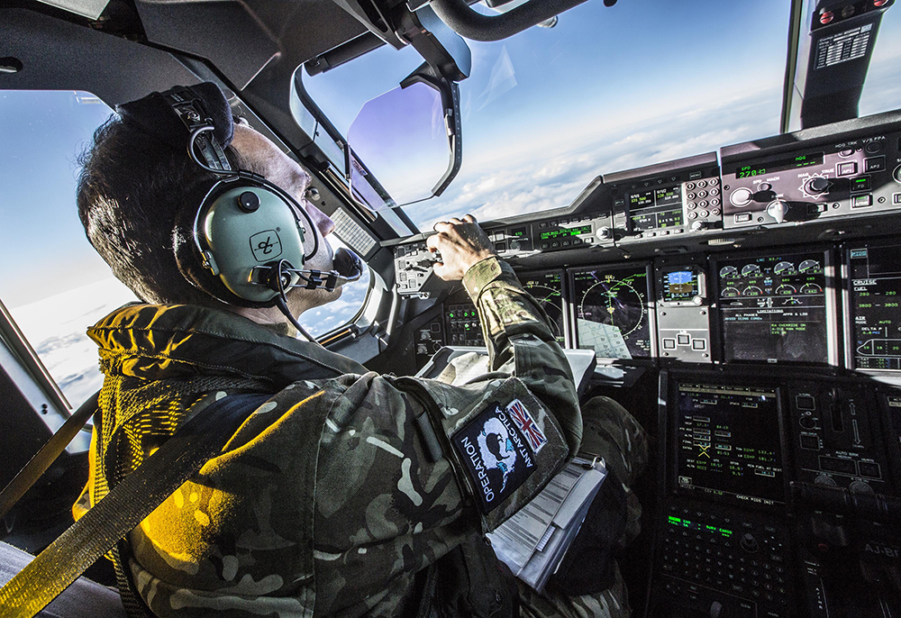 The crew operating the A400M Atlas during their first Operation COLDSTARE