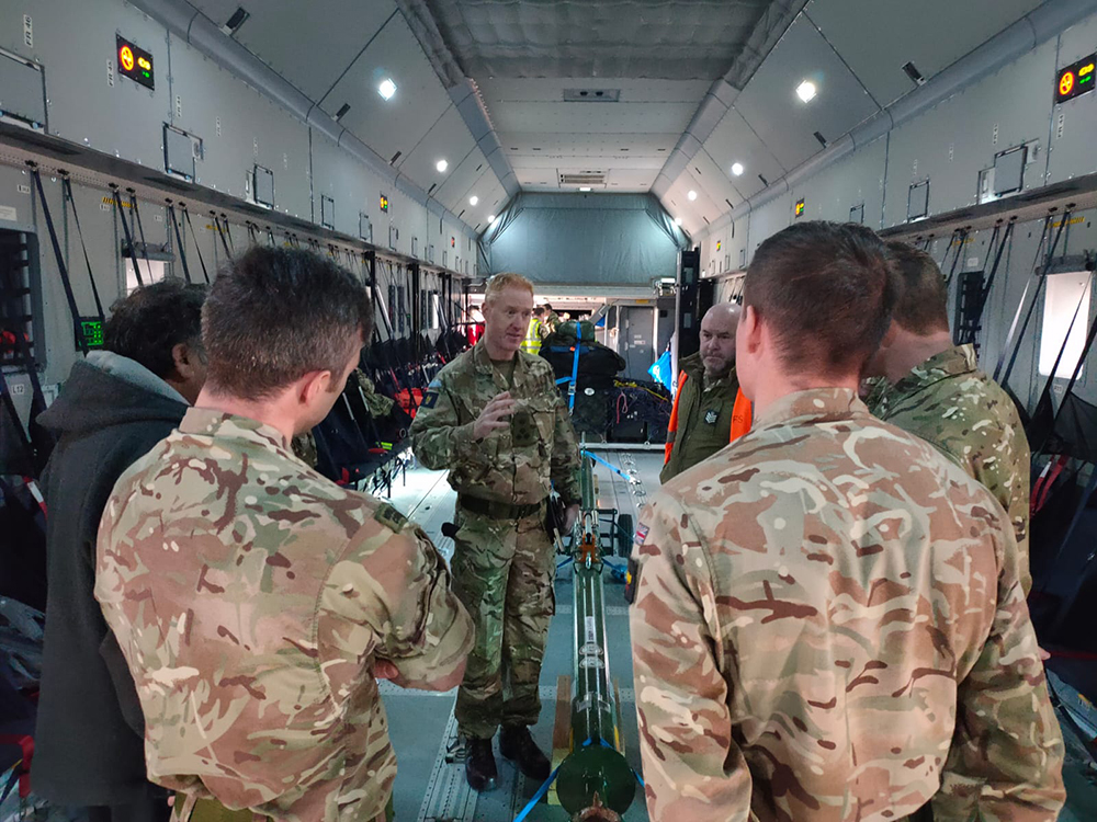 An A400M aircraft has been deployed from the Falkland Islands to assist in the official search and rescue mission for a missing Chilean aircraft