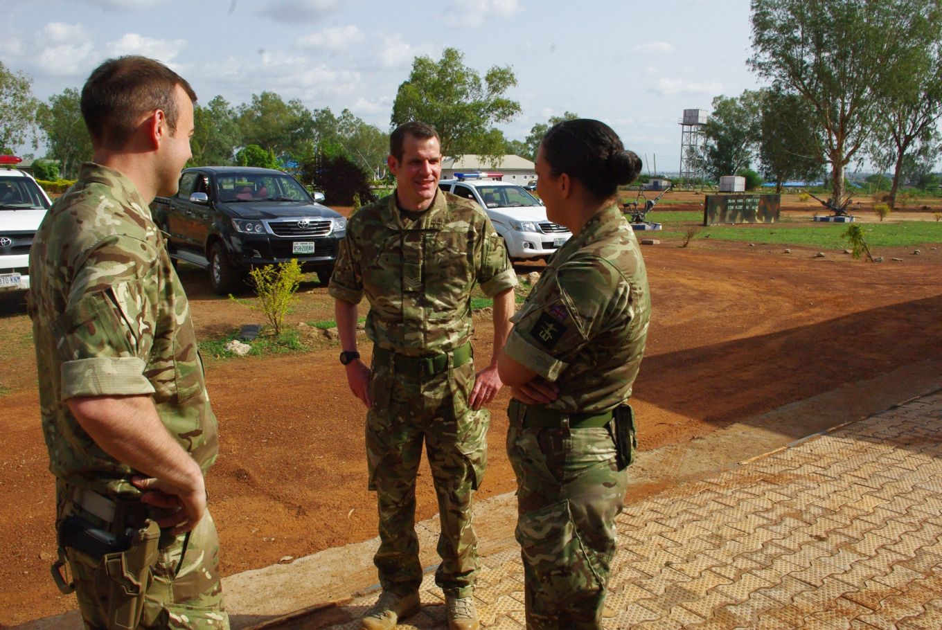 Sqn medics providing in country briefings