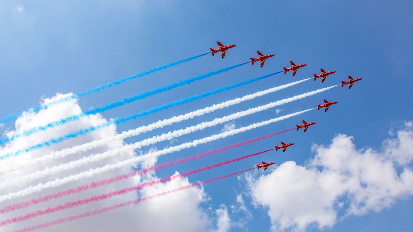 The Red Arrows will be part of a Hudson River flight on August 22.