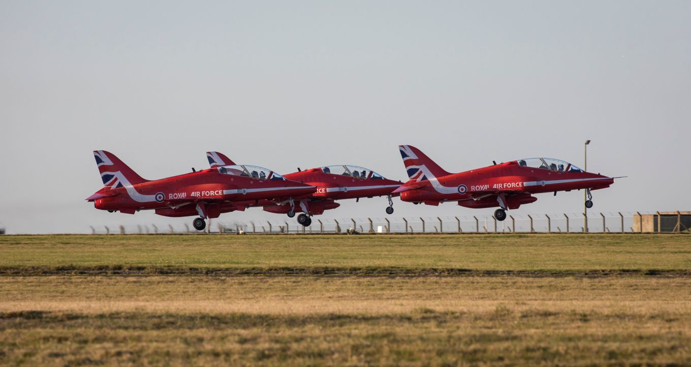 Training is already underway for the new Red Arrows team for 2020.