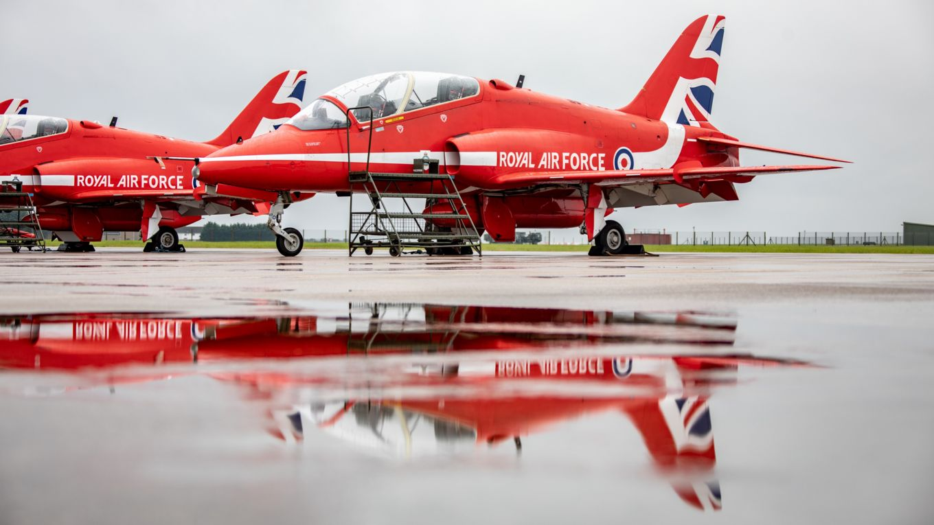 The jets at RAF Scampton ready for departure. Picture by SAC Ben Mayfield.