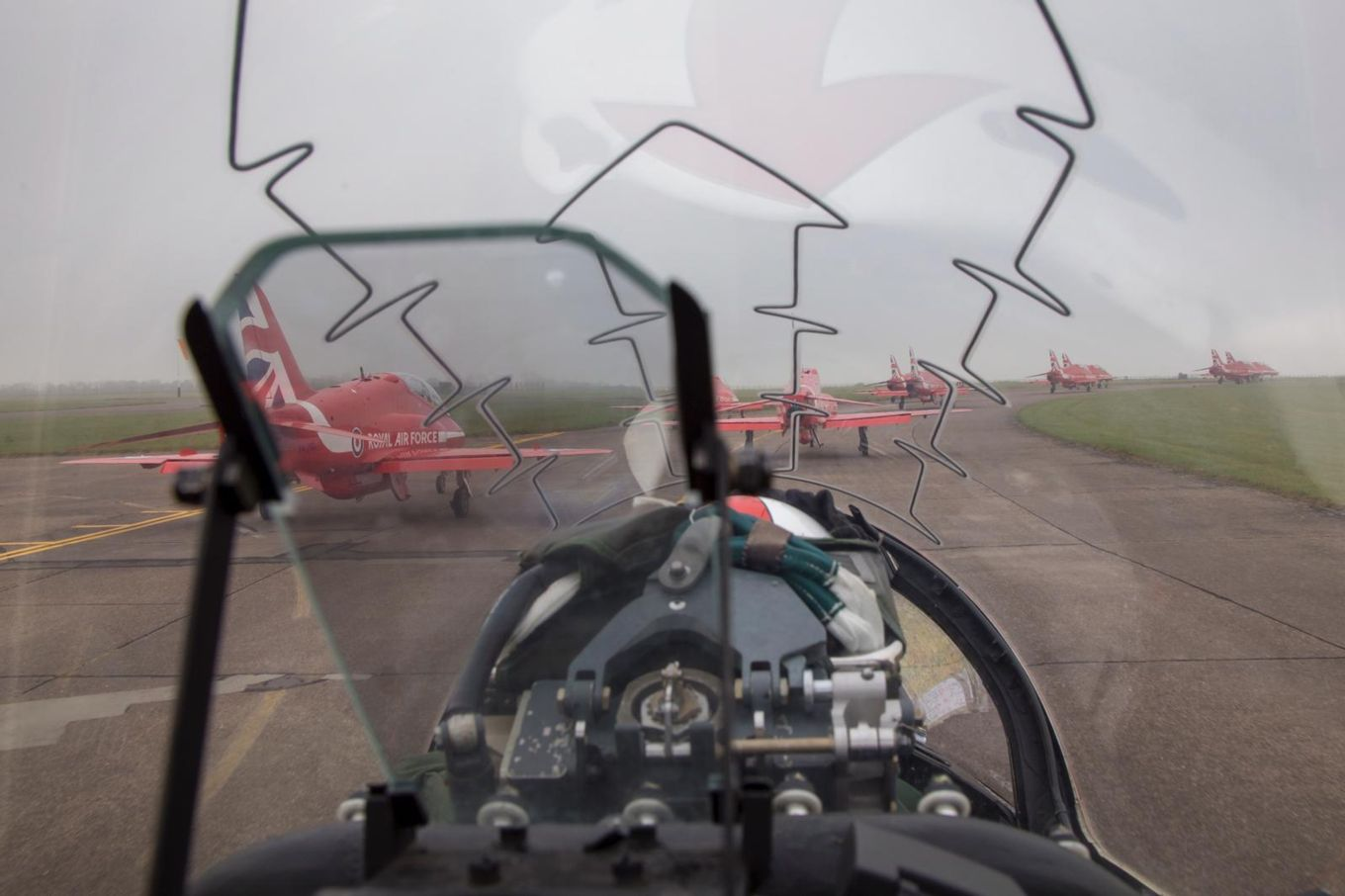 The Red Arrows departed RAF Scampton for pre-season training.