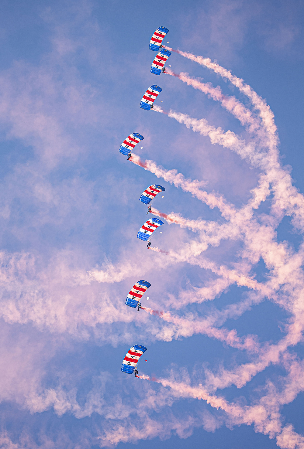 The RAF Falcons conducting display specific training in California on their last training Exercise