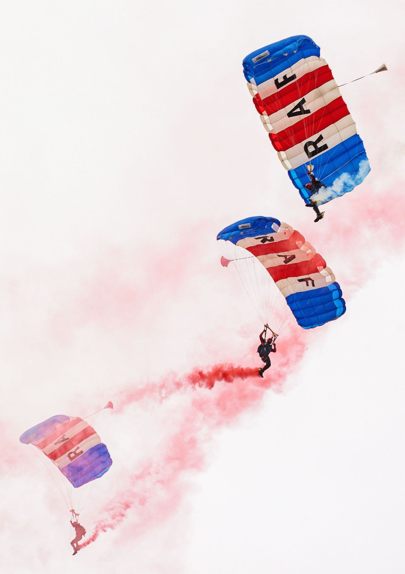 The RAF Falcons conducting their parachute training at RAF Brize Norton.