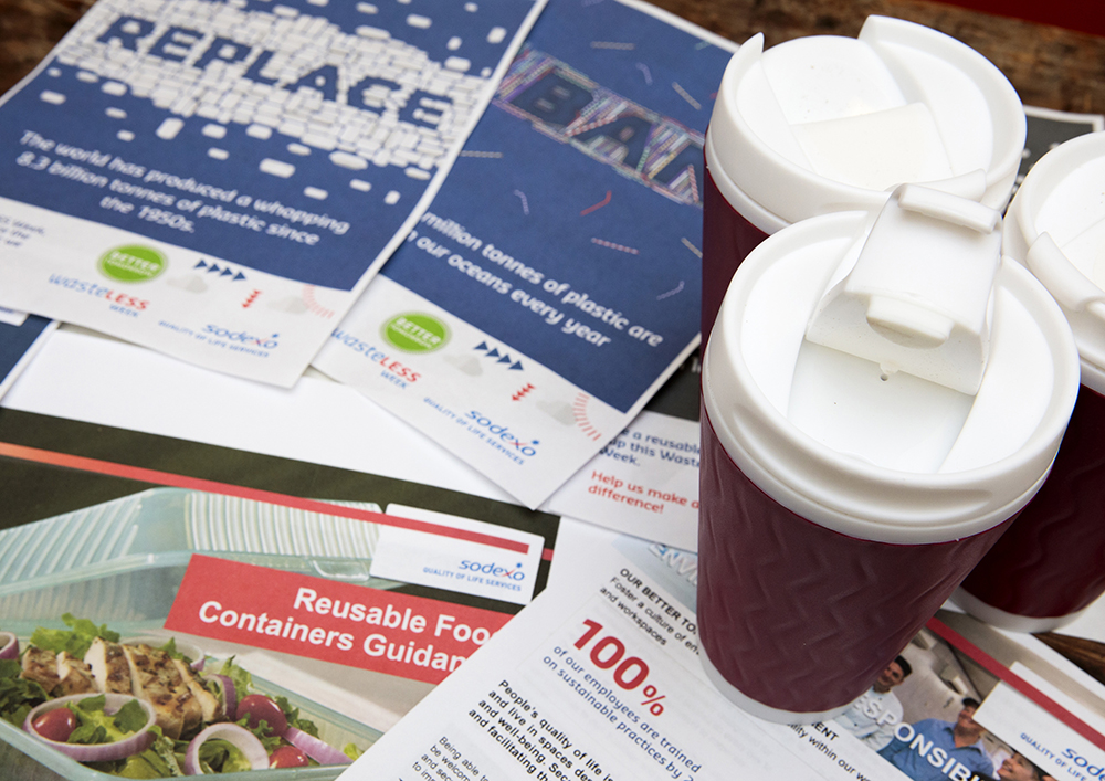 Cups available to reduce the use of disposable coffee cups
