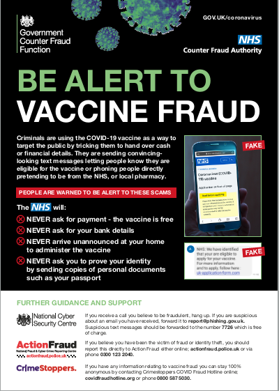 Covid-19 Vaccine Scams Alert | Royal Air Force