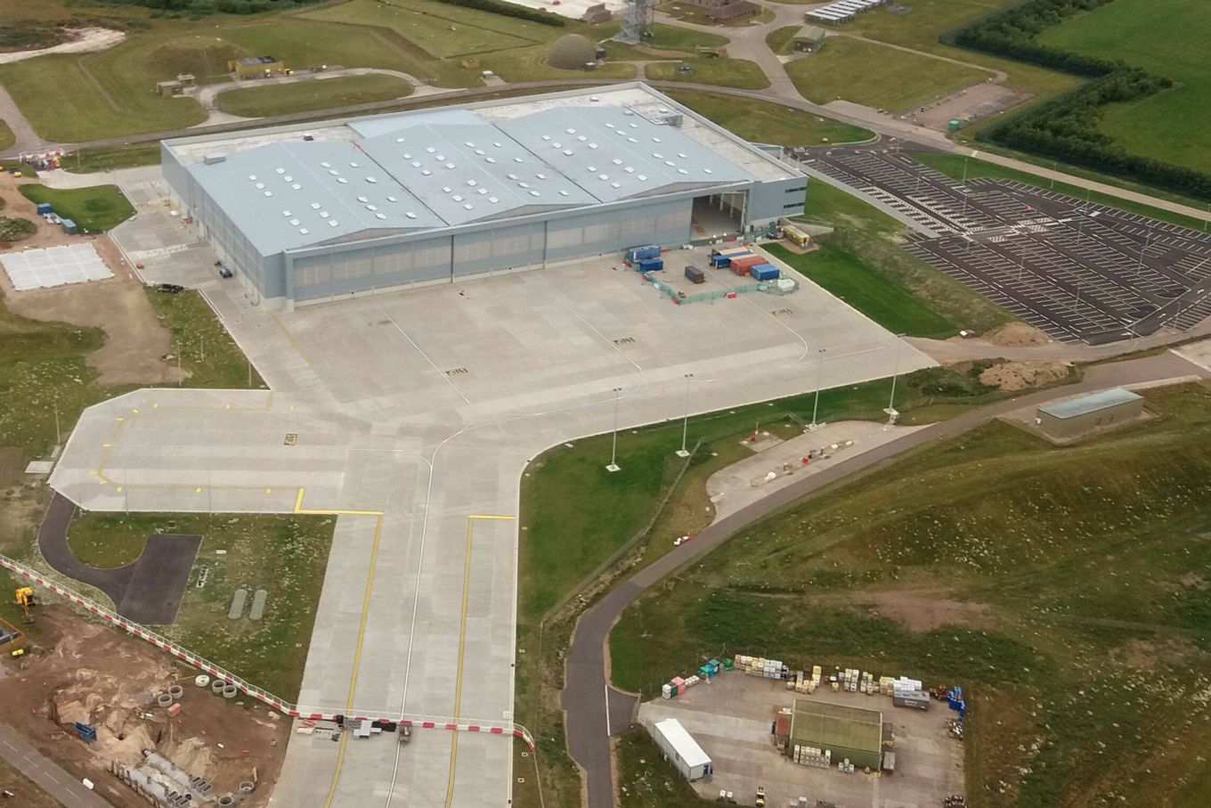 aerial shot of RAF Lossiemouth