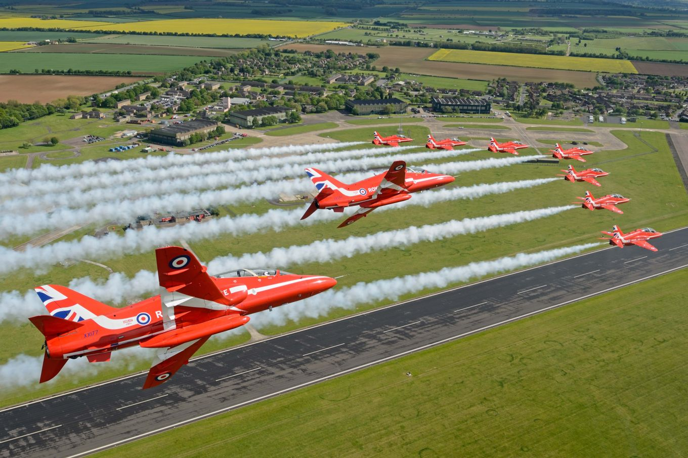 RAF Scampton - the base presently home to the Red Arrows.