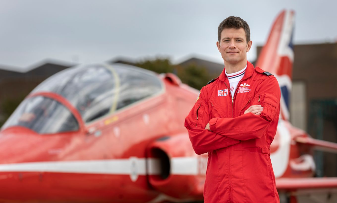 Squadron Leader Tom Bould - the new Red 1.